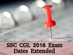 SSC CGL 2016 Registration Dates Extended