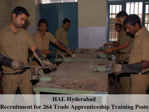 HAL Recruits 264 Trade Apprenticeship Tr Posts