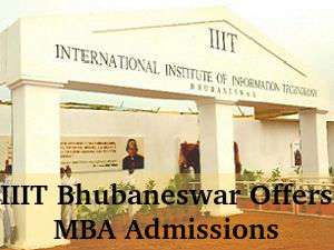 IIIT Bhubaneswar Offers MBA Admissions For 2016