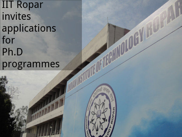 IIT Ropar invites applications for Ph.D programmes