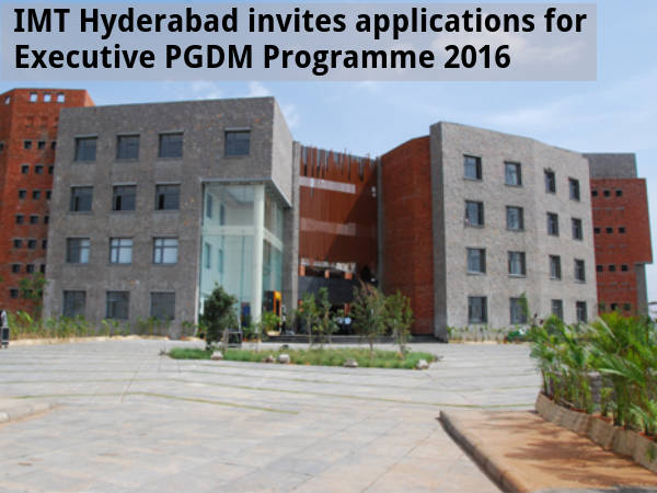 IMT Hyderabad offers admission for PGDM Programme