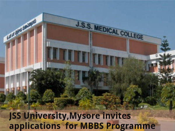 JSS University invites applications for MBBS