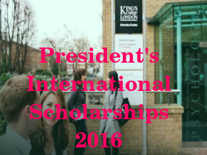 President's International Scholarships 2016