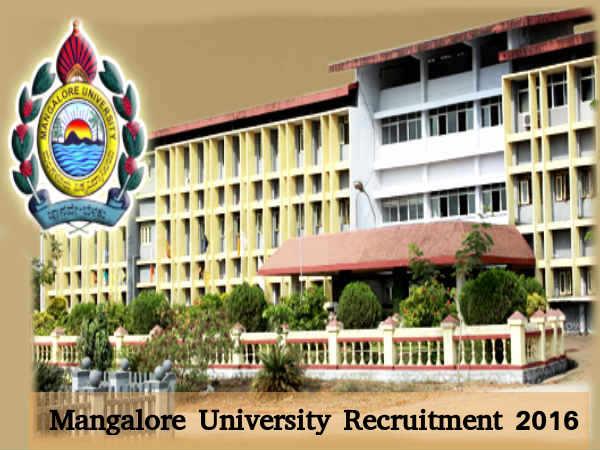 Mangalore Univ Recruits 16 Professors Posts 2016