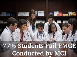 77% Indian Students Fail FMGE