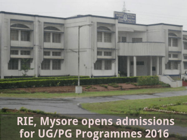 RIE, Mysore opens admission for UG/PG Programmes