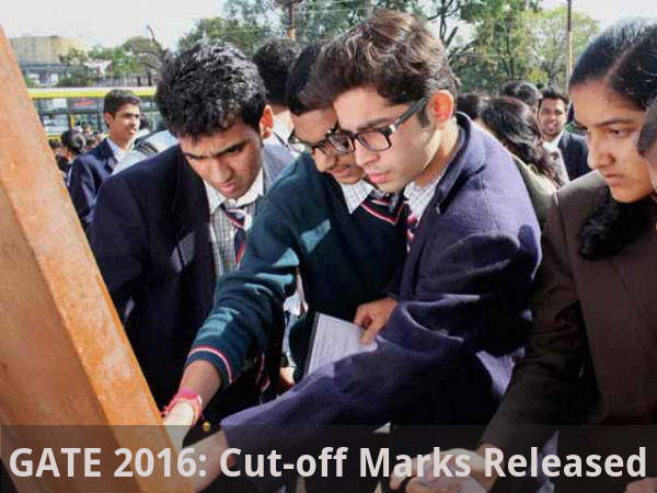 GATE 2016: Cut-off Marks Released