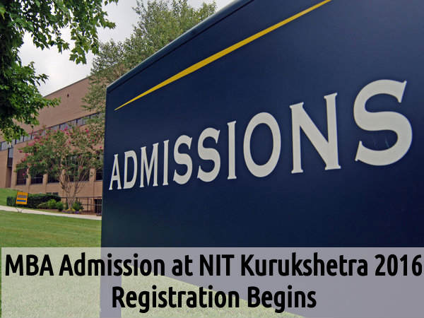MBA Admission at NIT Kurukshetra 2016