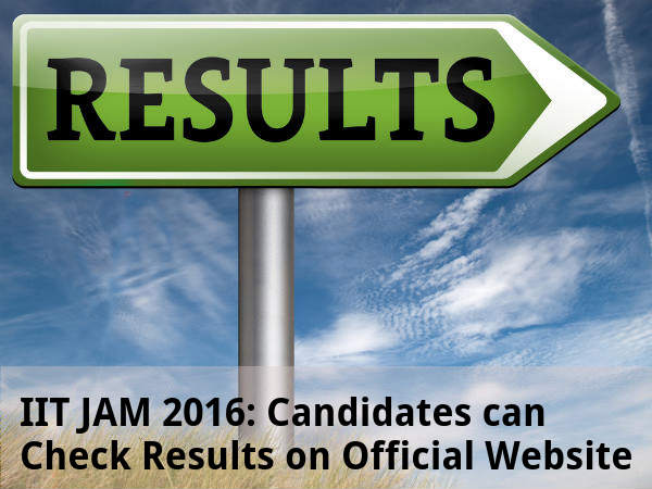 IIT JAM 2016: Results Announced