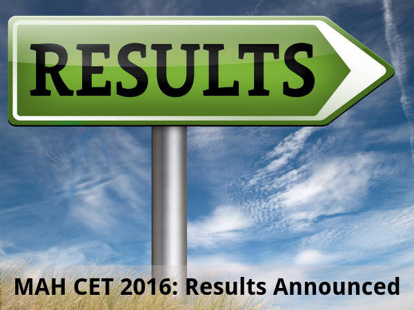 MH CET 2016: Results Announced