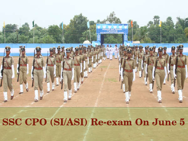 SSC CPO (SI/ASI) Paper Leak, Re-exam On June 5