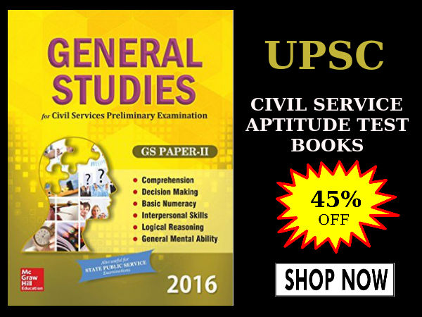 UPSC Civil Service Aptitude Test! Grab 45% off