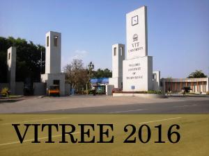 VIT University Announces VITREE 2016 Exam Dates