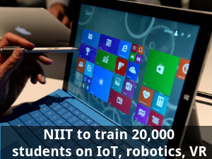 NIIT to train 20,000 students on IoT, robotics, VR