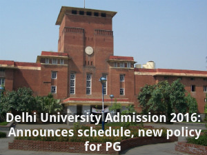 Delhi University PG Admission 2016