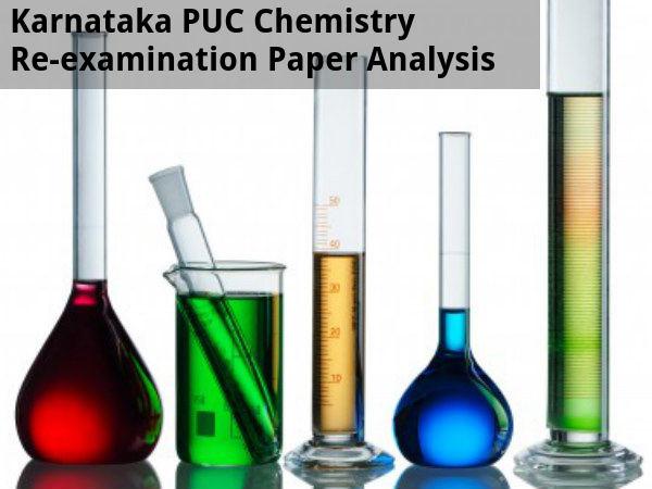 Karnataka PUC Chemistry Re-exam Paper Analysis