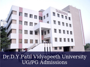 Dr.D.Y.Patil Vidyapeeth Announces UG/PG Admissions