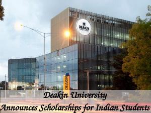 Deakin University Announces Scholarships