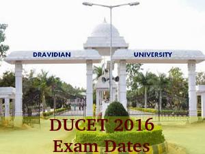 DUCET 2016 Exam Dates