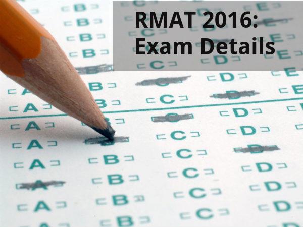 RMAT 2016: Exam Details