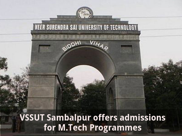 VSSUT Sambalpur offers admissions for M.Tech