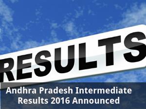 Andhra Pradesh Intermediate Results 2016 Announced