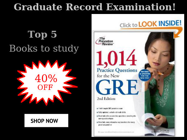 GRE Top 5 Books to study