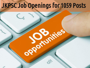 JKPSC Recruiting for 1059 Various Posts