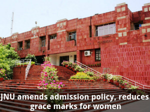 JNU Admission: Reduces grace marks for women