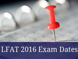 LFAT 2016 Exam Dates