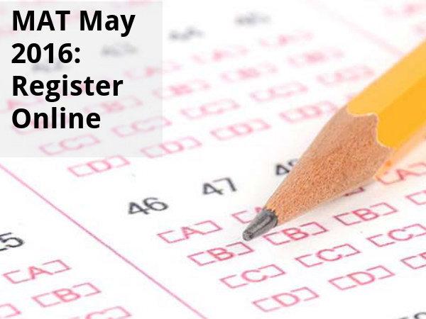 MAT May 2016: Register Online