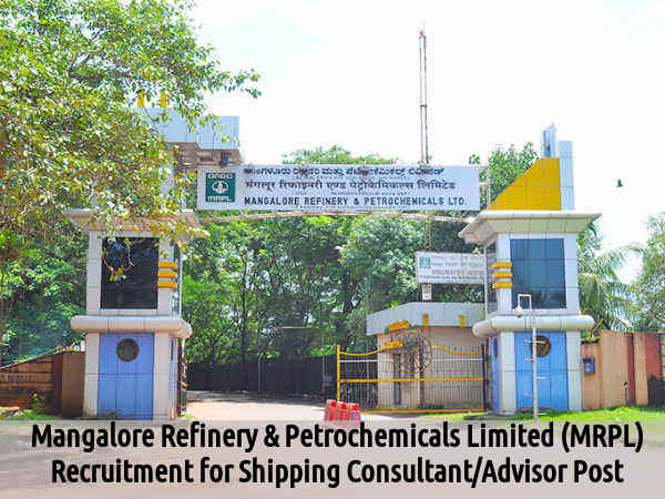 MRPL Recruits Shipping Consultant/Advisor Post