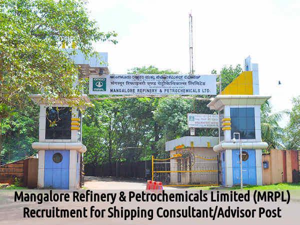 MRPL Recruits Shipping Consultant/Advisor Post