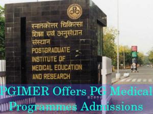 PGIMER Invites Applications To PG Medical Programe
