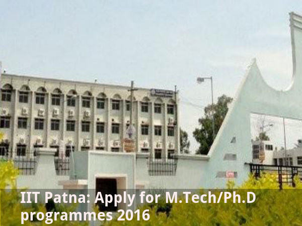 IIT Patna: Apply for M.Tech/Ph.D programmes 2016