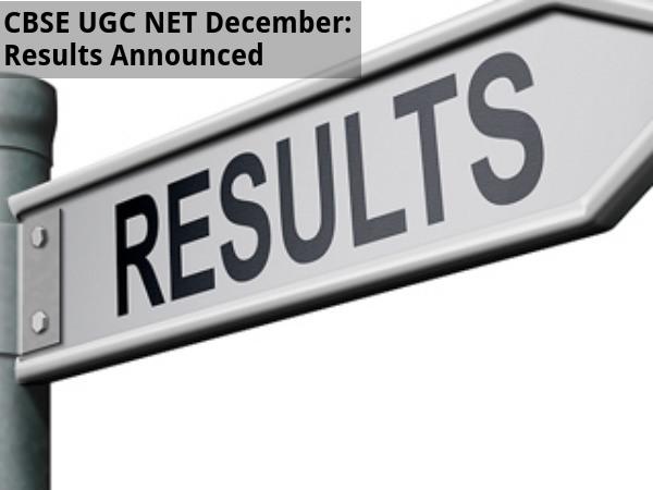 CBSE UGC NET December 2015 Results