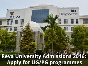 Reva University Admissions 2016: Apply for UG/PG