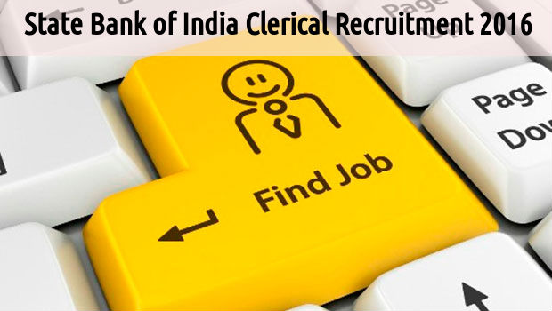 SBI Clerical Recruitment 2016