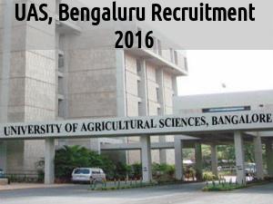 UAS, Bengaluru is Hiring for 105 Posts 2016