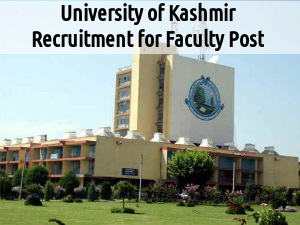 Univ of  Kashmir Recruits for 7 Faculty Posts