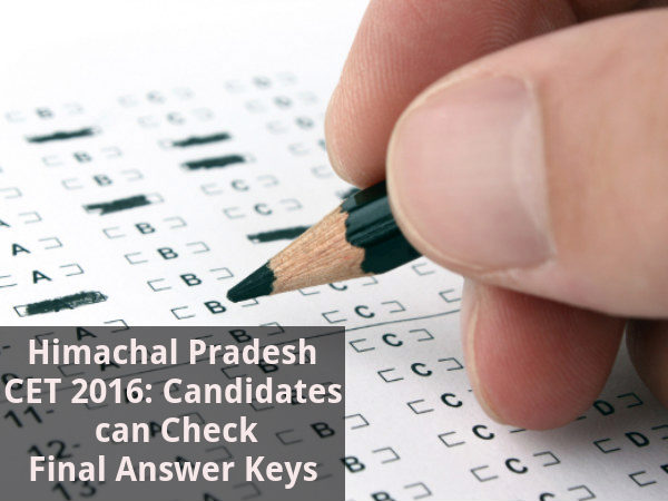 HPCET 2016: Answer Keys Released