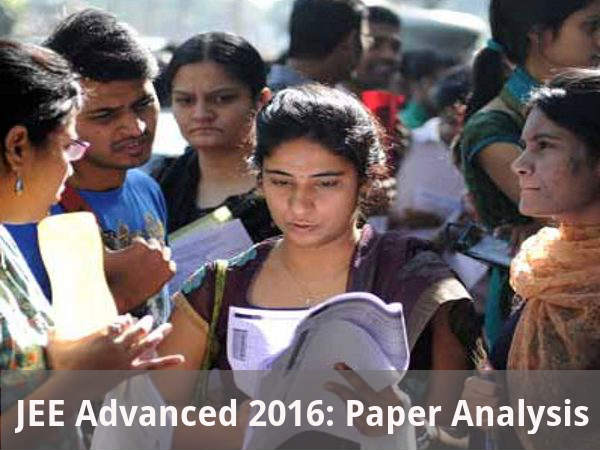 JEE Advanced 2016: Paper Analysis