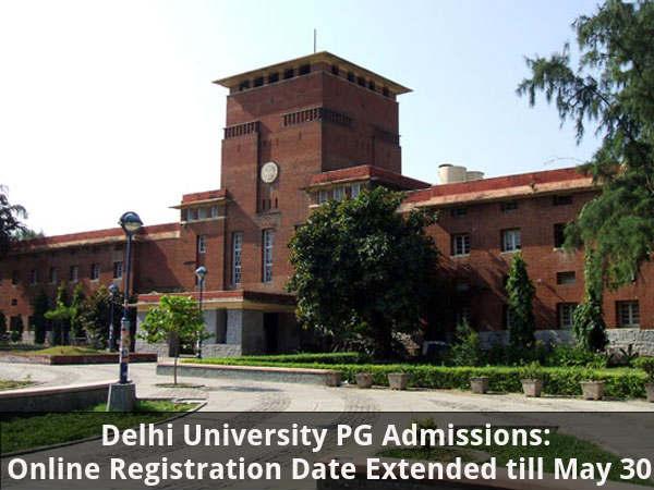 DU PG Admissions Registration Date Extended