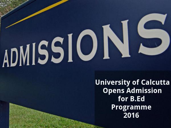 Calcutta University Opens Admission for B.Ed