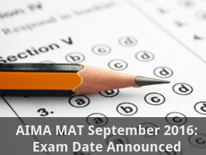 AIMA MAT September 2016: Exam Dates Announced