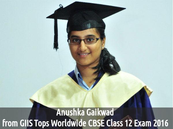 Anushka Gaikwad from GIIS Tops Worldwide CBSE Exam