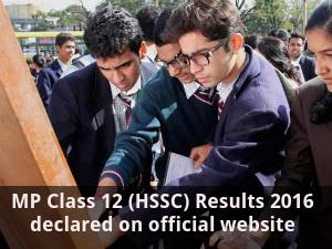 MP Class 12 (HSSC) Results 2016 declared
