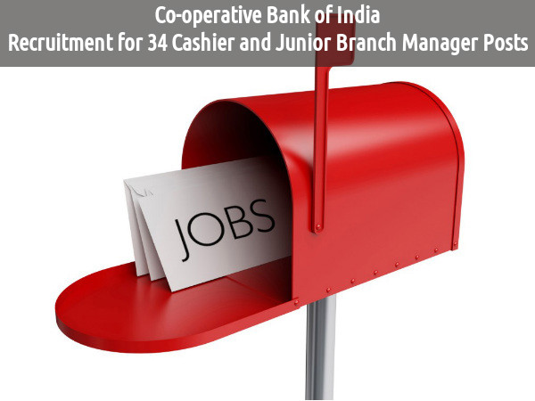 Co-operative Bank of India Job is Hiring 2016