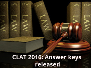 CLAT 2016: Answer keys released