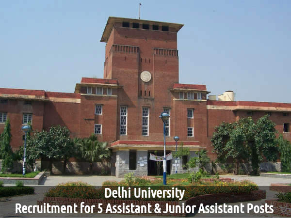 DU is Hiring for 5 Asst & Jnr Asst Posts 2016